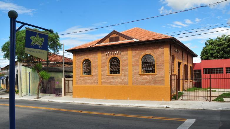 Imagem da fachado do prédio onde a biblioteca vai funcionar em Eugênio de Melo