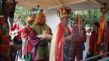 Imagens mostram grupos de Folias de Reis durante o encontro realizado no Parque da Cidade