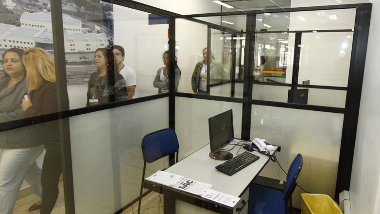 Imagem mostra parte do novo posto do Procon no CAC
