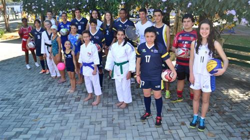 Crianças e jovem do Atleta Cidadão