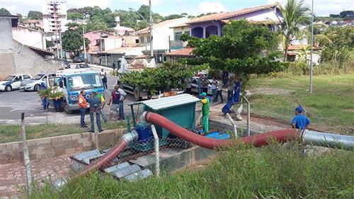 Motobombas implantadas no Residencial Cambuí