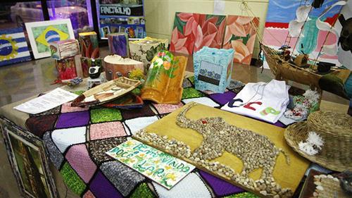 Exposição de produtos artesanais