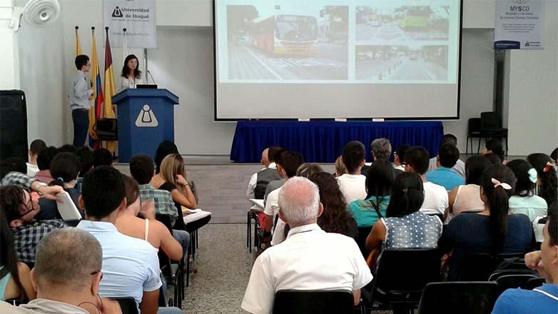 Palestra sobre mobilidade na Colômbia