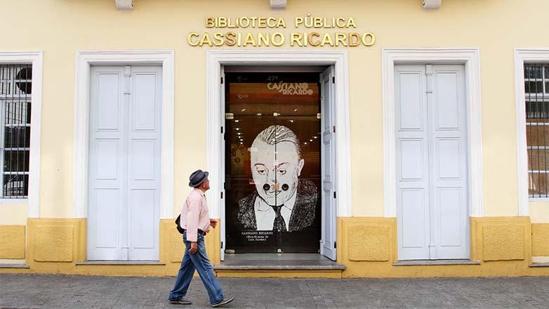 Fachada da Biblioteca Pública Cassiano Ricardo de São José dos Campos