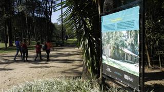 Painel sobre o Museu do Folclore instalado no Parque da Cidade