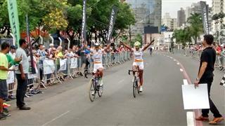 pódio do GP Campinas de Ciclismo