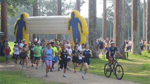Treinamento de corrida no Parque da Cidade