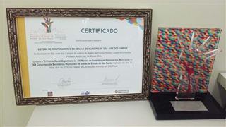 Certificado do prêmio