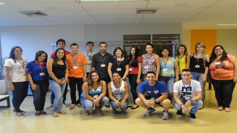 Estagiários que participaram de treinamento realizado nos dias 6 e 7 de fevereiro, com atividades de integração e dinâmica de grupo