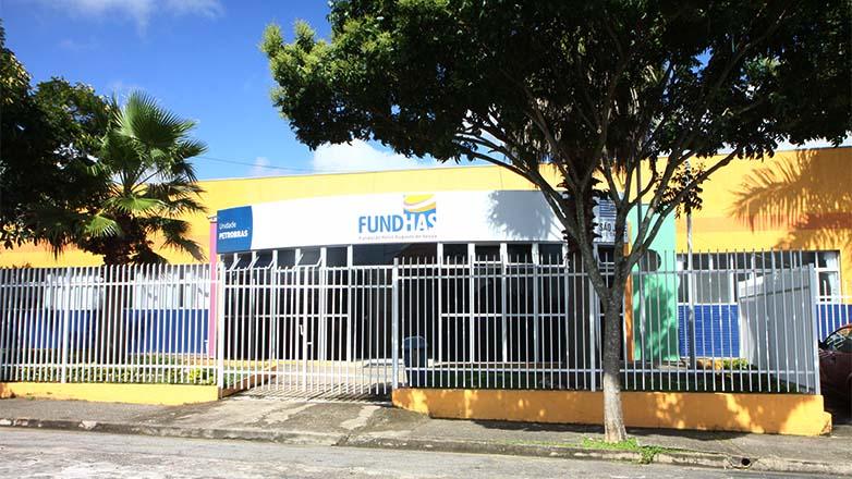 Fachada da unidade Petrobras da Fundhas