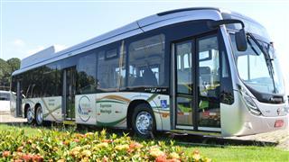 Ônibus movido a gas