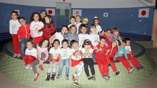 Alunos da Escola Municipal de Educação Infantil Torataro Takitani