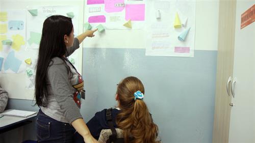 Estagiárias de pedagogia