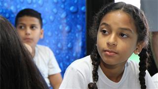 A aluna Ana Laura disse que vai ensinar a família a economizar água no o banho e ao lavar as louças da cozinha