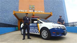 A Prefeitura apresentou a nova viatura elétrica para a GCM para o uso no patrulhamento em vias públicas