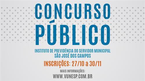 O Instituto de Previdência do Servidor Municipal, vinculado à Prefeitura de São José dos Campos está com inscrições abertas para concurso público