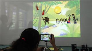 """""""Consegui unir duas coisas que gosto muito: a leitura e a ilustração"""", disse a aluna Clara David Cardoso"""