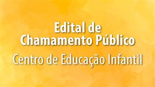 Banner do edital