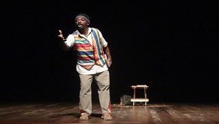 Cena da peça 'O Bicho de São Sereré', que será apresentada sábado
